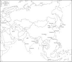 Map Of Asia With Cities by Asia Free Map Free Blank Map Free Outline Map Free Base Map