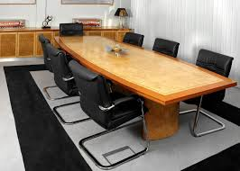 Office Boardroom Tables Boardroom Table In Veneer With Border Long Meeting Table