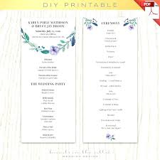 diy wedding program templates template diy wedding programs template