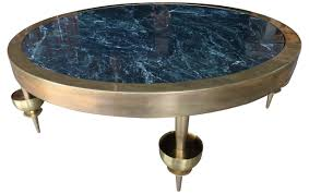 custom brass and marble coffee table mid century modern coffee