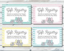 baby gift registry baby shower gift registry cards baby shower invitation