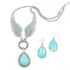 vintage necklace earrings images 2014 hot sale angle wing turquoise jewelry set vintage tibet jpg
