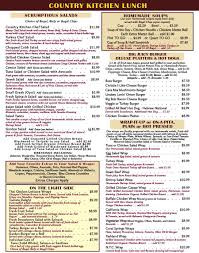Country Kitchen Com by Menu
