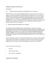 sample indemnity agreement project plan template word doc rent