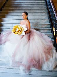 ombré wedding dress the prettiest blush and light pink wedding gowns