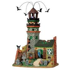 lemax spooky town lemax spooky town collection lighthouse ruins with 4 5v adapter