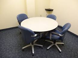round office table and chairs round conference table office furniture warehouse black chairs