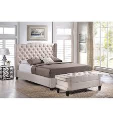 Overstock Com Bedroom Sets Baxton Studio Zant Queen King Light Beige Modern 2 Pc Bedroom Set