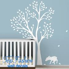 popular large white tree wall decal buy cheap large white tree new 2015 monochromatic fawn tree wall decal white tree decal classic baby nursery room decor art