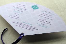 Fan Programs For Weddings Sneak Peek Indian Arch Wedding Reception Stationery Set Imbue