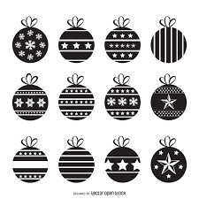 christmas decorations silhouette set vector download