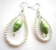 Chandelier Beaded Earrings White Bead 469 Best Paper Bead Jewelry Images On Pinterest Paper Beads
