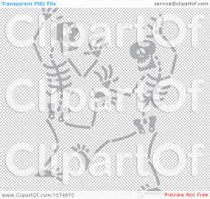 dancing halloween skeleton background clipart gray skeletons dancing royalty free vector illustration