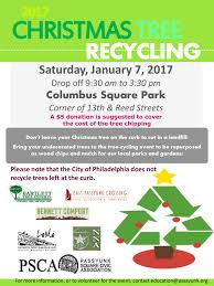 recycle your tree on january 7 passyunk post
