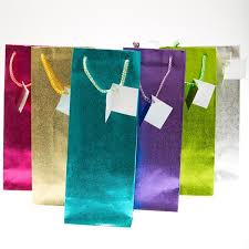 metallic gift bags gift bags tagged solid color gift bags century novelty