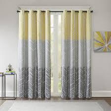 Yellow And Grey Curtain Panels Beautiful Modern Yellow Grey Blue Aqua Chevron Geometric Curtain