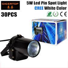 china ball video lighting white color 30pcs lot 5w cree led pin spot light mirror disco ball