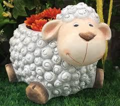 resin sheep garden planter garden decor garden ornaments flower pot