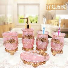 Peach Bathroom Accessories by Online Get Cheap Pink Bathroom Accessories Aliexpress Com