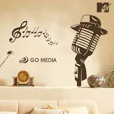 compare prices on music wall decals online shopping buy low price microphone with music notes vinyl wall sticker music bar music classroom wall decals decoration