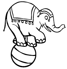 circus elephant coloring pages kids place color