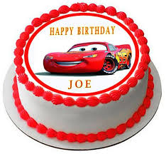 cars birthday cake disney pixar cars lightning mcqueen 1 edible cake topper cupcake
