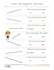 lines rays and line segments worksheets testaday