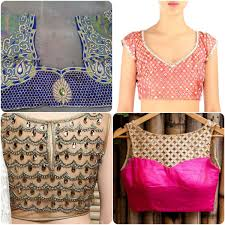 Popular Trends 2016 by Popular Embroidered Saree Blouses 2016 Top 5 Stylo Planet