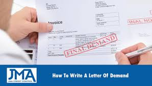 Letter Of Credit In Australia how to write a letter of demand australia jma credit