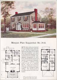 classic colonial revival traditional house plan interiors