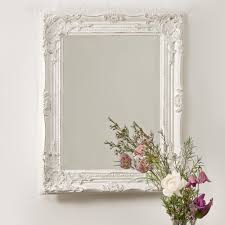 White Mirrors For Bathroom Vintage Shabby Chic White Ornate Wall Mirror Rococo