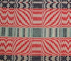 Colonial Coverlets Overshot Coverlets An American Art Form Weaving Today