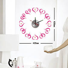 compare prices on wall clock pink online shopping buy low price watch wall clocks vinyl stickers moderm art novelty gifts decoration home pink heart kitchen crystal hours