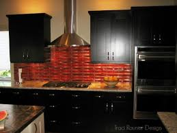 stunning astonishing red subway tile backsplash kitchen backsplash