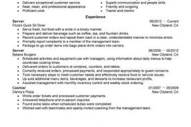 Sample Resume For Cashier In Restaurant by Sample Resume Fast Food Crew Reentrycorps