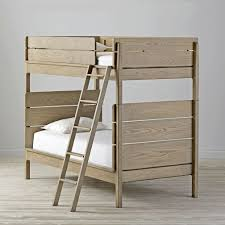 wrightwood grey stain twin over twin bunk bed the land of nod
