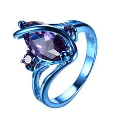 blue fashion rings images Rongxing jewelry new purple cz ring gold plated copper jpg