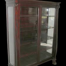 Mahogany Bookcase With Glass Doors Antique Mahogany Display Cabinets With Glass Doors Cabinet Doors
