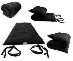 black traditional japanese thai floor rolling futon mattresses