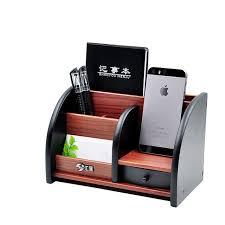 rangement stylo bureau en bois de haute qualité multifonctionnel bureau papeterie