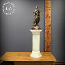 Art Deco Floor Lamps Vintage Marble Column Floor Lamp With Art Deco Bronze Victorian