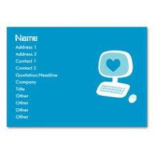 It Technician Business Card It Computer Programmer Technician Double Sided Standard Business