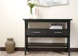 Narrow Console Table With Drawers Furniture Sofa Table With Storage Drawers In Black Narrow Console