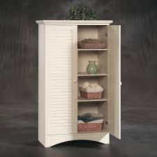 Sauder Harbor View Bookcase With Doors Antique White by Harbor View Storage Cabinet