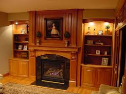 Living Room Bookcases by Simple Fireplace Mantel With Stone Tiled Wall Panel Feat Brown