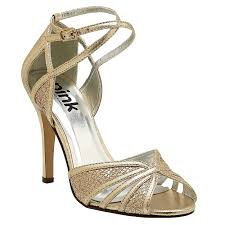 gold wedge shoes for wedding pink paradox gold sandals wedding shoes bridal