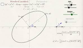 ellipse oriented rotation 1 geogebra