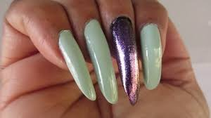 mint green and purple nails in motion youtube