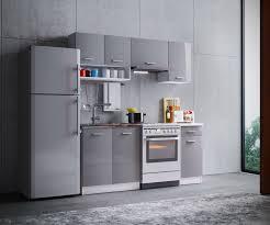komplett küche komplettküche mit geräten und spüle gemini hellgrau hochglanz