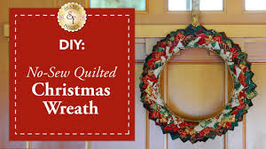 Quilted Christmas Ornament Patterns Diy No Sew Quilted Christmas Wreath A Shabby Fabrics Diy Craft